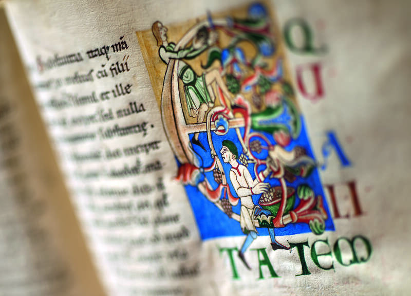 Abbaye de Cîteaux - Enluminure d'un manuscrit