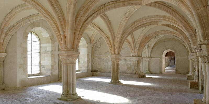 Abbaye de Fontenay_Salle capitulaire ©Fréderic Dupin
