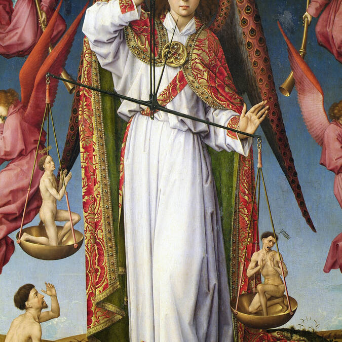 「最後の審判」の祭壇屛風画の拡大